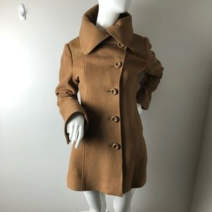 Mackage Camel PeaCoat Oversized Collar L